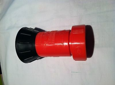 "RED 1-1/2"" NST POLY FIRE HOSE NOZZLE FIREHOSE NOZZLE FIREHOSE T"