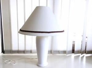 TALL WHITE CERAMIC TABLE LAMP South Perth South Perth Area Preview