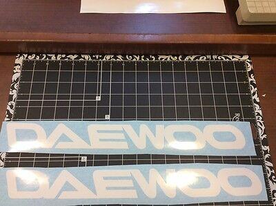 Forklift Decal Daewoo Mast Or Hood Vinyl Decal Set Of 2 Decals Daewoo Lift