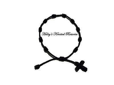 Knotted Rosary Bracelet - Black