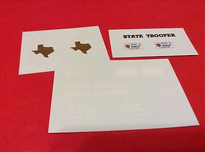 TEXAS HIGHWAY PATROL 1/24 - 1/25 scale police decals - Custom Made