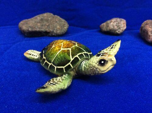 Sea Turtle Little Green ~ Ocean Amphibian ~ Figurine Statue