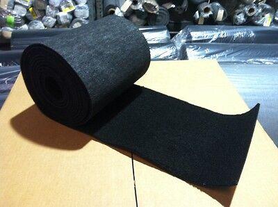 "Marine Trailer Bunk / Carpet for PWC / BOAT - BLACK - 9"" x 25'"
