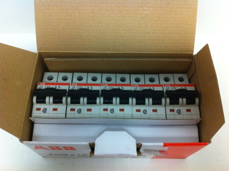 BOX 5 NEW ABB 2-POLE 4A MIN CIRCUIT BREAKERS S202U-K4A S-202U 2CD-S272-417R0337