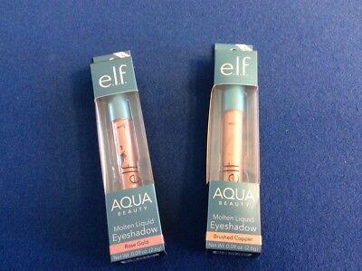 Elf Aqua Beauty Molten Liquid Eye Shadow  Available In Two Shades   You Choose