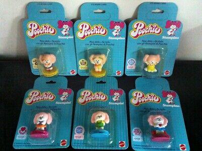 Mattel Poochie Set di 6 TIMBRINI con personaggi 5 cm MOC, 1982