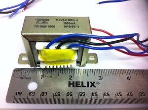 POWER TRANSFORMER 9V Transformer 9V-0-9V CT 1AMP,1000mA 110VAC to 9VAC,18VAC TRU