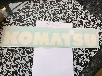 Komatsu Forklift Vinyl Decal Set Of 2 White Decals Komatsu Mast Decals