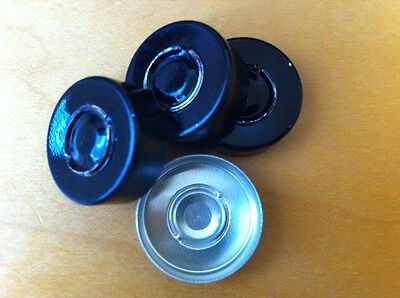 1000 Count - 20mm Black Center Tear Seal For Serum Vials Bottles - Best Deal
