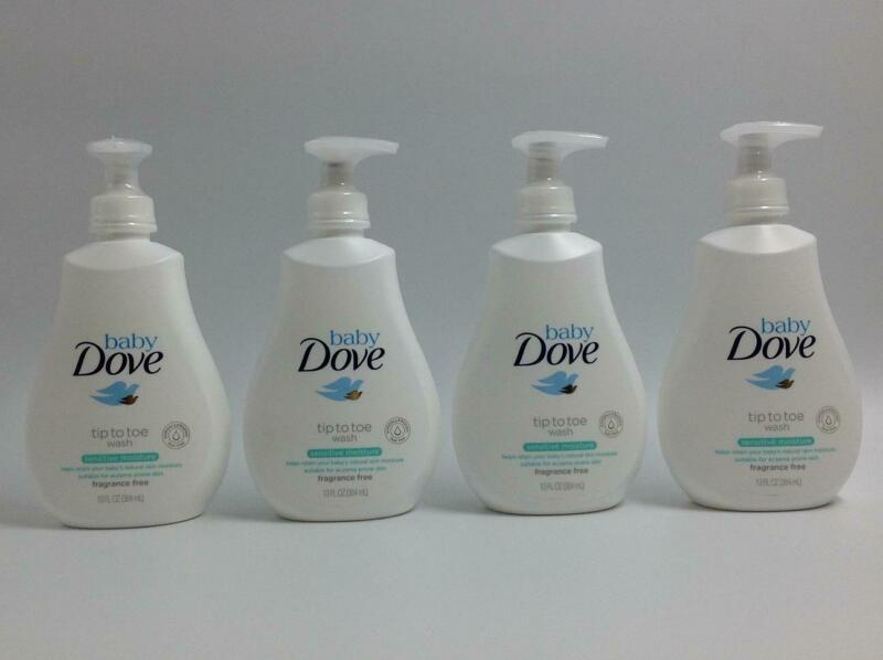 Dove Tip to Toe Baby Body Wash Sensitive Moisture Eczema Tear Free 13oz Lot of 4