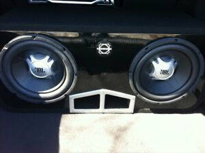 """2 x 10"""" JBL Subwoofers with Box (Negotiable)"""