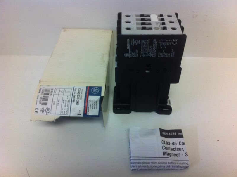 NEW! GE GENERAL ELECTRIC 25HP CONTACTOR CL45D310MD