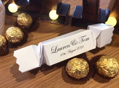 PERSONALISED Party Cracker Style Gift Boxes  ❤️ Xmas ❤️ Weddings ❤️ All Occasion ()