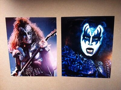 Kiss 1970's Lot Of Two Gene Simmons Color 8 X 10's