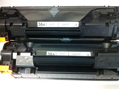 CB436A 436A 36A Toner Cartridge for HP LaserJet M1522NF M1120N P1505N P1055N 2pK ()
