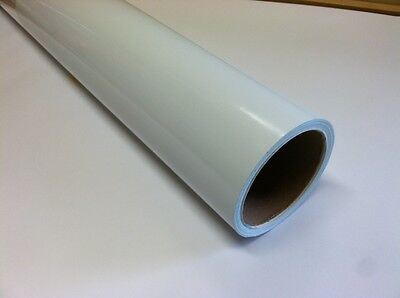 WHITE  Dry Erase Vinyl film,  24 Inch x 10 feet, with Removable Adhesive