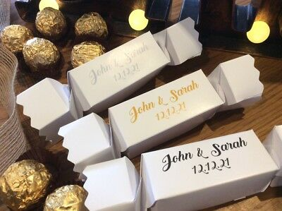 PERSONALISED Party Cracker Style Gift Boxes  ❤️ Weddings ❤️ Xmas ❤️ All Occasion ()