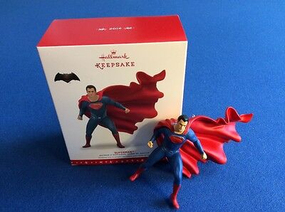 Superman (Batman vs Superman ) 2016 Hallmark Keepsake Christmas ornament in box (Batman Christmas)