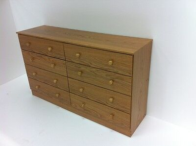 كومودينو جديد Bedroom Modern Furniture – 8 Drawer Bedroom Dresser – OAK – NEW.,