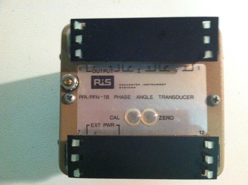 ROCHESTER INSTRUMENT SYSTEMS PHASE ANGLE TRANSDUCER RIS PFA/PFN-1B