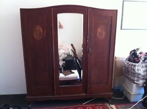 Timber Wardrobe with Mirror Leichhardt Leichhardt Area Preview