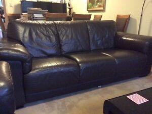 Leather 3 seater sofa - super comfortable Cremorne North Sydney Area Preview