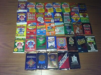 """Dad""""s Old Baseball Cards in Sealed Packs + Free Gift w/Rookie Cards! NO COMMONS!"""