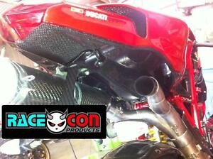 ducati 848 1098 1198 carbon fibre rear seat undertray