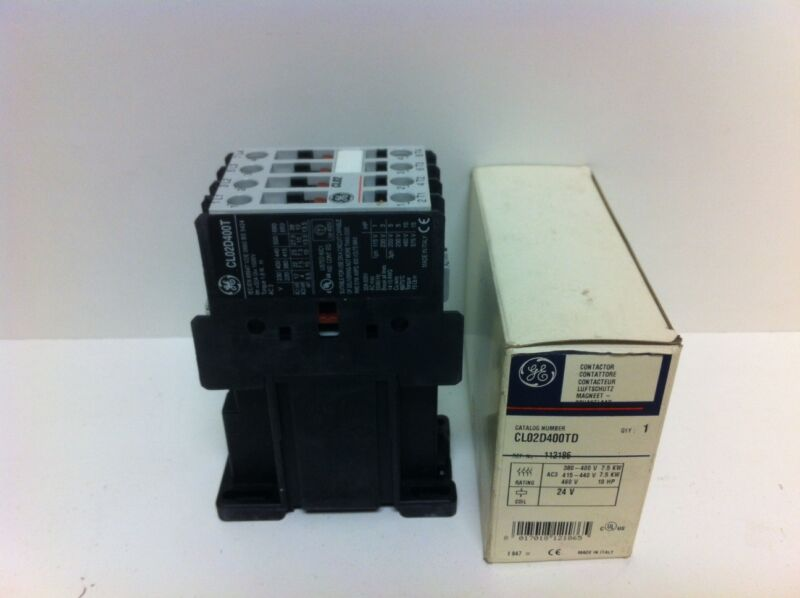 NIB! GE GENERAL ELECTRIC CONTACTOR CL02D400TD 24VDC COIL NEW IN BOX