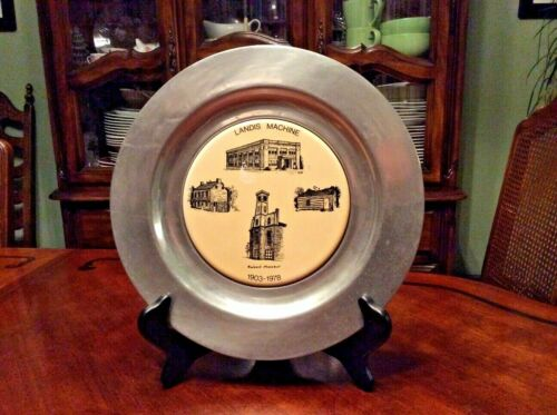 Landis Machine, Pewterex Plate, 75th Anniversary, Special Limited Edition, 1978