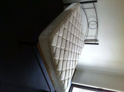 double slat bed and mattress
