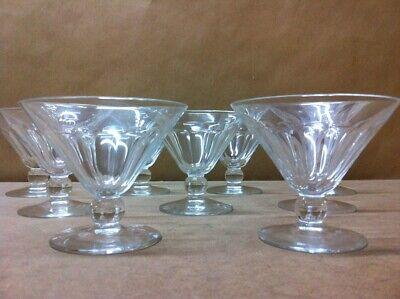 6 coupes à champagne en cristal. Mod. EUREL cp . H: 87 mm  Val Saint Lambert