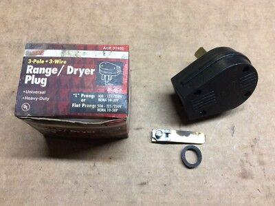 Ace Hardware 31932 3-pole Universal Range Dryer Plug Black