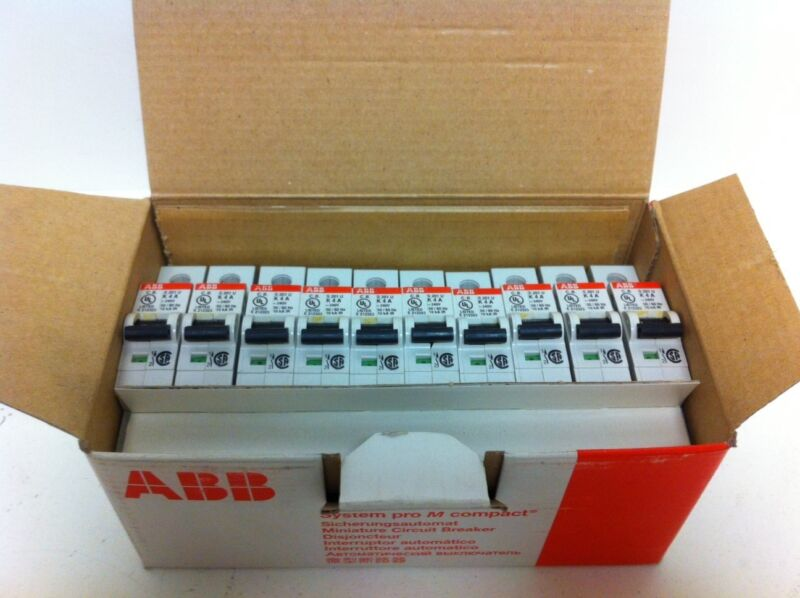 BOX 10 NEW ABB 4AMP 1-POLE CIRCUIT BREAKERS S201U-K4A S 201U 2CD-S271-417R0337