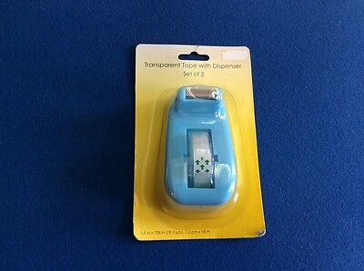 Tape Dispenser Heavy Duty Includes A Roll Of Transparent Tape Blue. New.