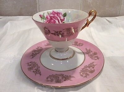 Royal Halsey very fine bone china Teacup and Saucer Set Rare