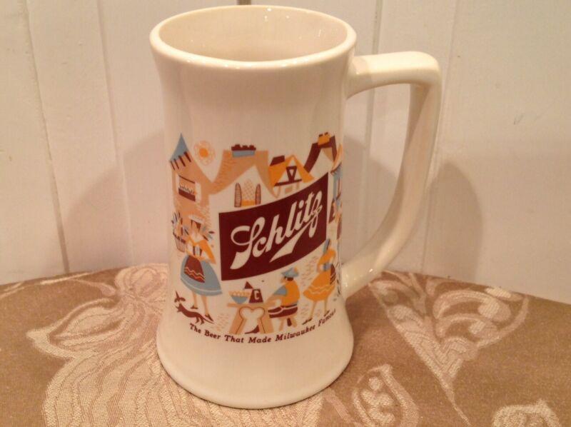 Schlitz Vintage Beer Mug - Good Condition - Shipping Included