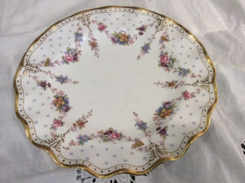 "Royal Crown Derby-Royal Antoinette English Bone China Salad 8""Plate"