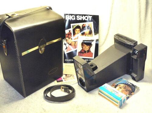 Vintage Polaroid BIG SHOT Land Camera w/ Case, Flash Cubes, Manual. Warhol Fav.