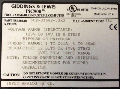 Giddings Lewis Plcs Pic900 Io - Analog Voltage Input 502-03642-03 R3