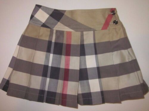 BURBERRY Serena Classic Plaid Side Button Check Skirt size 12 or 18 Months NWT