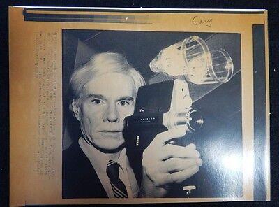 Andy Warhol 1978 Original AP Laserphoto Posing with Polaroids New Polavison