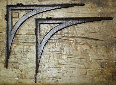 2 Cast Iron Antique Style ANGLE Brackets Garden Braces Shelf Bracket CABLE