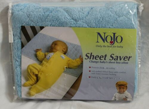 New NoJo Crib Sheet Saver Liner Protector BLUE Soft Quilted
