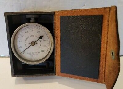Shore Durometer Hardness Tester Type A-2 Leather Box Vintage 1963 Scale 1-100