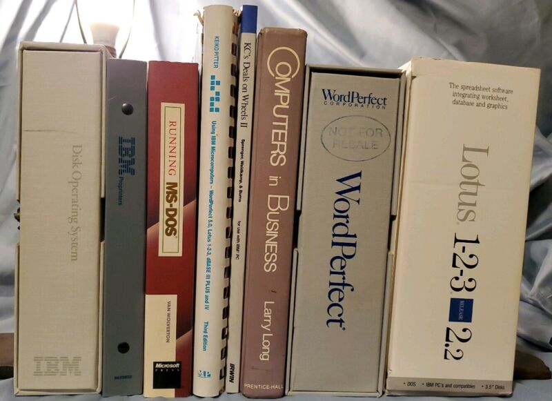 Vintage 1980s Computer Manuals Textbooks IBM DOS operating system lot