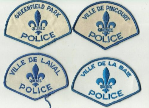 Greenfield Park / Pincourt / La Baie / Laval (QUEBEC) Police Patches