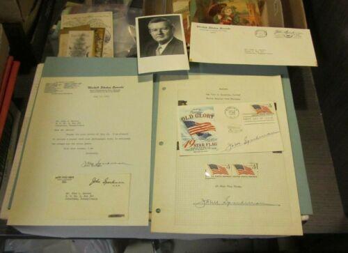 1959 Alabama Senator John Sparkman Autograph Signed Letter & Postal Items Photo