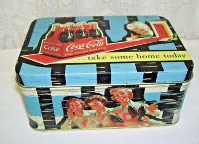 Hinged Coca-Cola Tin Box 2003