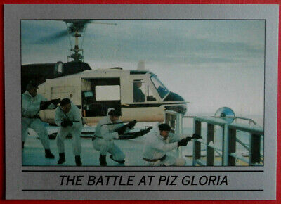 ON HER MAJESTY'S SECRET SERVICE - Card #46 - THE BATTLE AT PIZ GLORIA - Eclipse